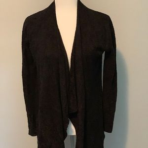 Barefoot Dreams Bamboo Chic Cardigan S/M Black